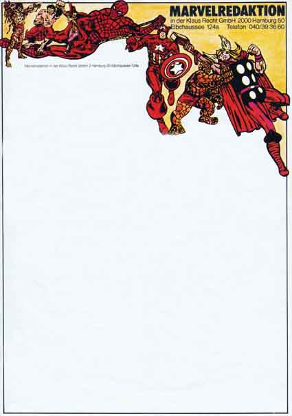 Marvel Briefpapier