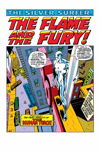 Splash Page Silver Surfer