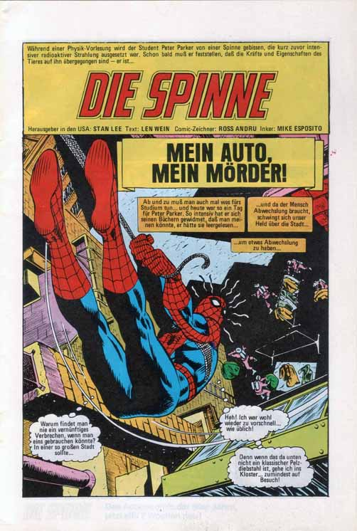 Amazing Spider-Man Splash Page