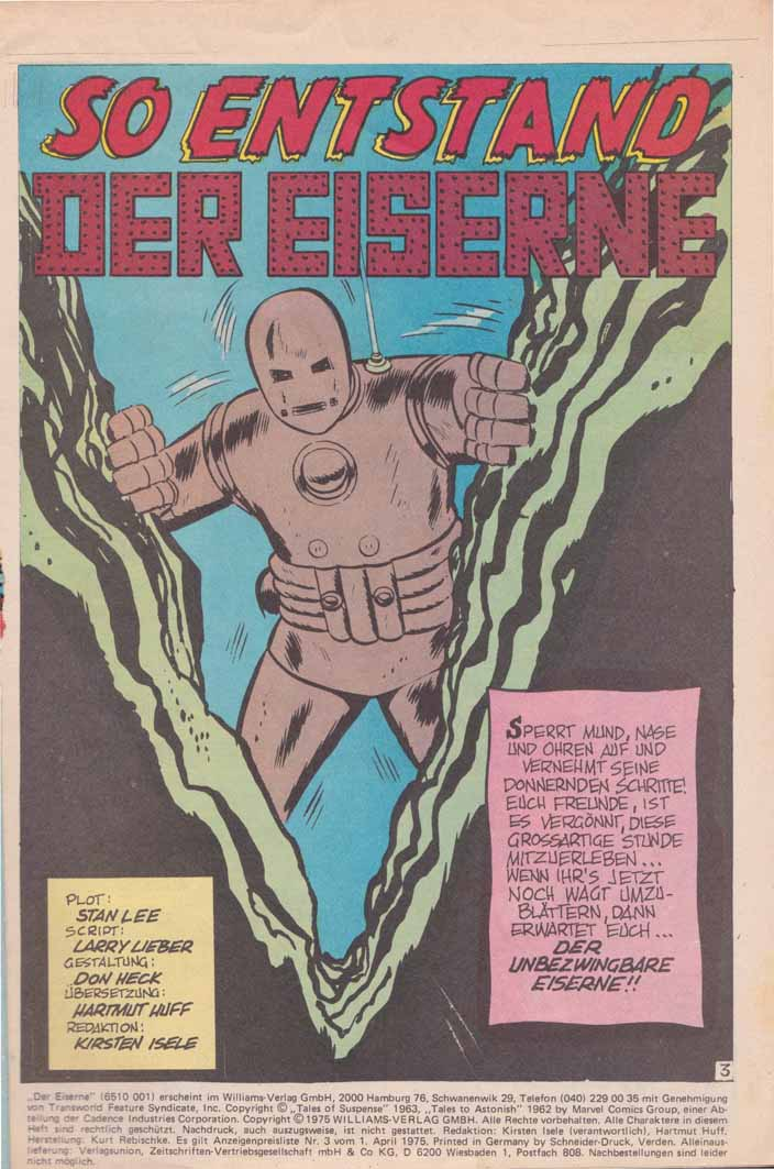 Williams Recht Der Eiserne Splash Page