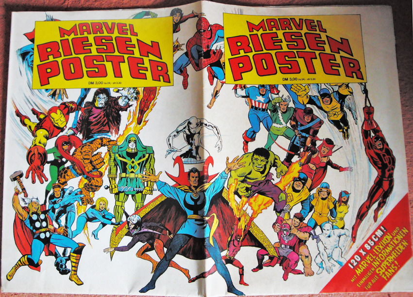 Marvel-Riesenposter Williams-Verlag